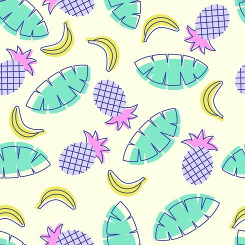 Motif Fruits d'été sans couture Pop Art vecteur