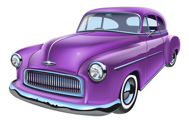 Vintage american car vecteur