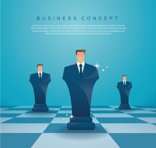 concept de stratégie d'entreprise homme d'affaires d'échecs figure vecteur