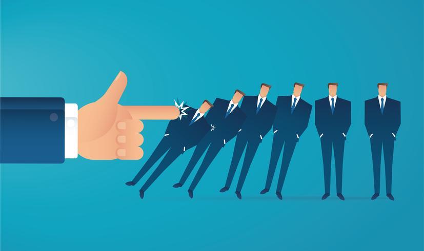 concept d'entreprise effet domino vecteur