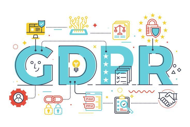 GDPR (règlement général sur la protection des données) vecteur