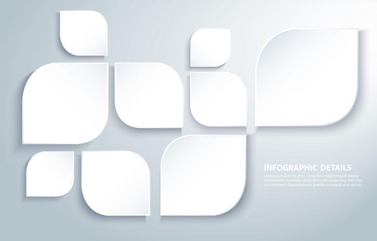 Feuilles carrées modernes abstraites vecteur