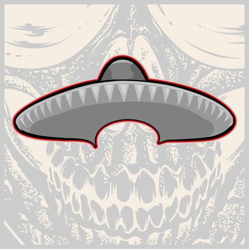 Sombrero - moustache et chapeau mexicain - illustration vectorielle vecteur