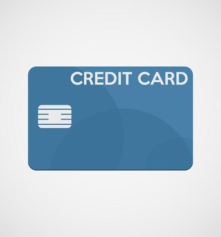 Carte de crédit dans un design plat vecteur