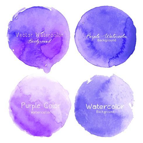 Cercle aquarelle violet sur fond blanc. Illustration vectorielle vecteur