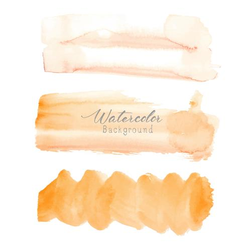 Aquarelle de coup de pinceau orange sur fond blanc. Illustration vectorielle vecteur