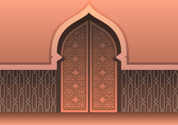 Vecteur porte mosquée