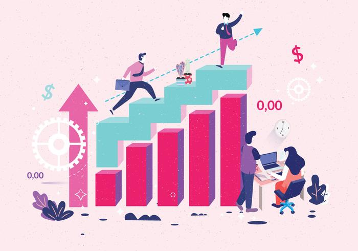 Vecteur graphique d'objectifs d'entreprise