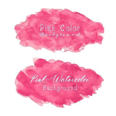 Fond aquarelle abstraite rose. Élément d'aquarelle pour la carte. Illustration vectorielle vecteur