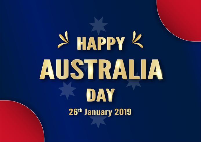 Bonne fête de l'Australie le 26 janvier. Modèle de conception pour l'affiche, carte d'invitation, bannière, publicité, flyer. Illustration vectorielle en papier découpé et style artisanal. vecteur