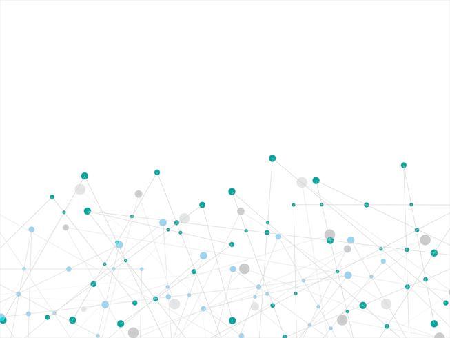 Abstrait blanc technologie et science avec une ligne bleue et grise à pois. Concept d'entreprise et de connexion. Concept futuriste et industrie 4.0. Liaison de données Internet et thème du réseau. vecteur