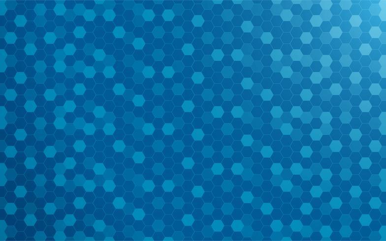 Abstrait bleu avec hexagone. Concept de technologie et de texture. Dégradé bleu vecteur