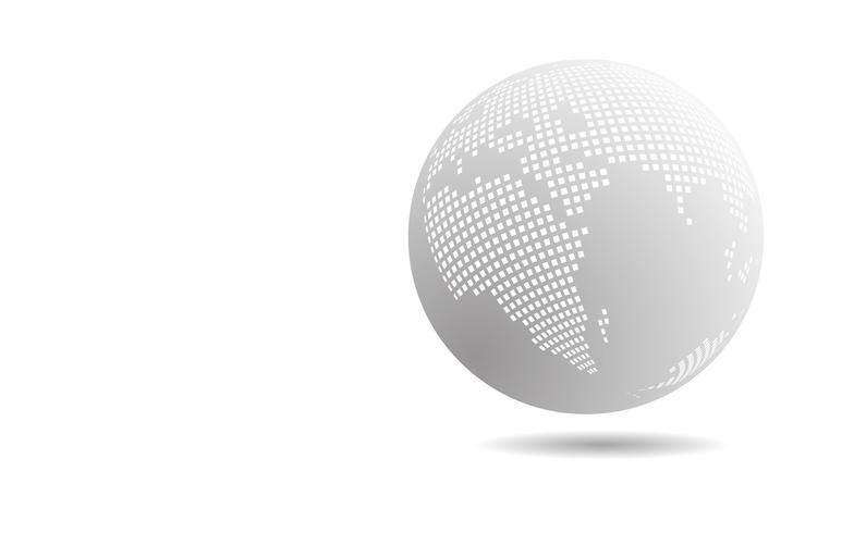 Cercle de technologie blanc et gris et abstrait de la science informatique. Affaires et connexion. Concept futuriste et industrie 4.0. Thème Internet et réseau Internet. vecteur