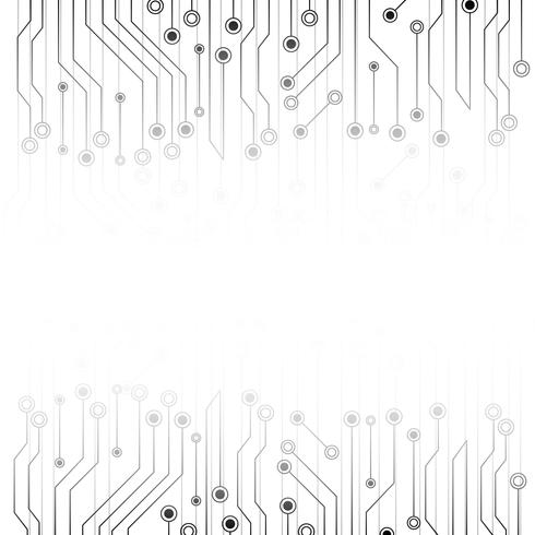 Abstrait blanc avec carte électronique. Résumé gris. Concept futuriste de technologie et de texture. Thème du système de ligne de communication. vecteur