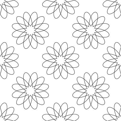 Fond transparent Concept antique moderne abstrait et classique. Thème élégant de design créatif géométrique. Illustration vecteur Couleur noir et blanc Forme florale et florale