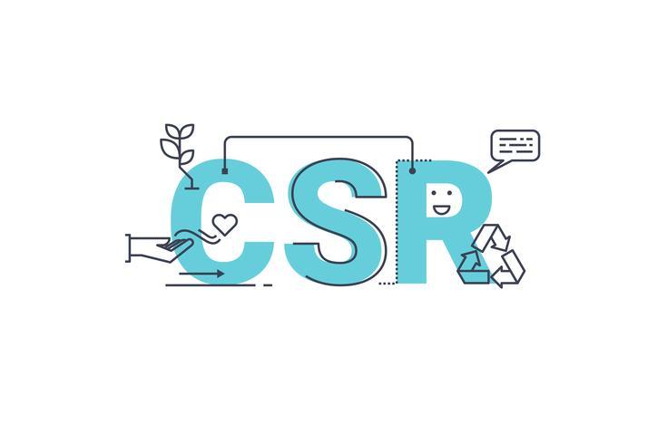 Responsabilité sociale des entreprises vecteur