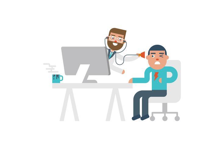 Concept de médecin en ligne vecteur