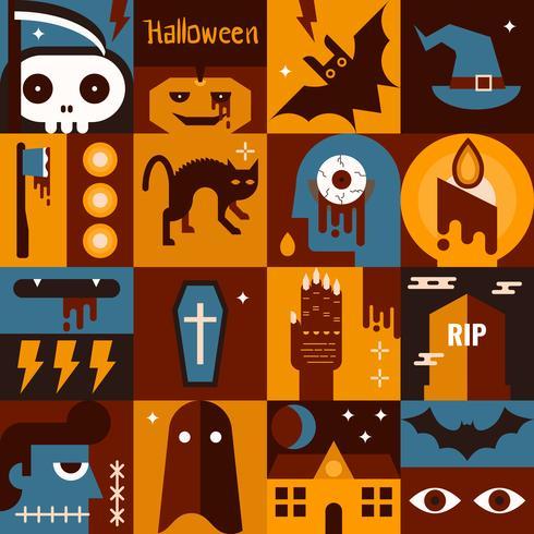 Concept d'Halloween vecteur
