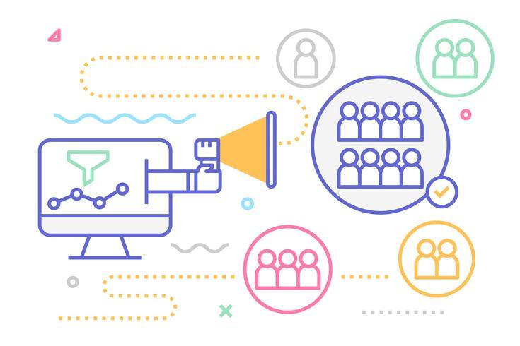 Illustration de marketing numérique vecteur