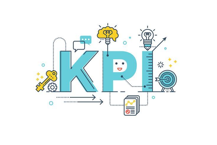 KPI: mot clé indicateur de performance vecteur