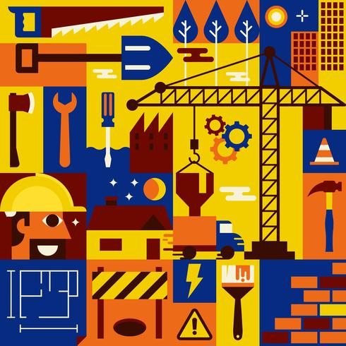 Concept de construction vecteur