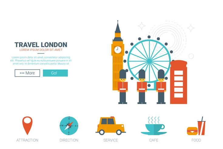 concept de voyage à Londres vecteur