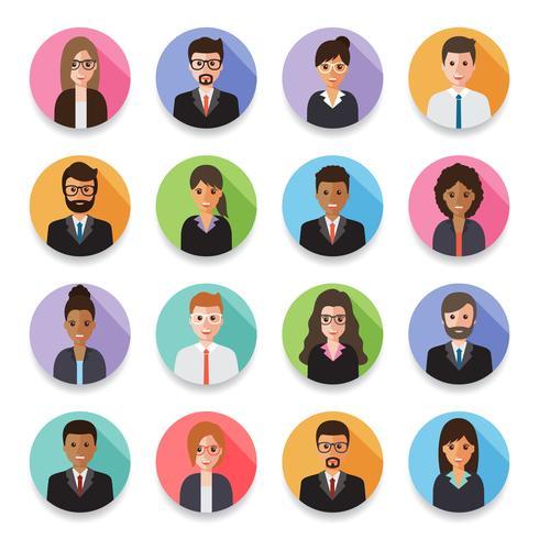Avatars des hommes et femmes d'affaires. vecteur