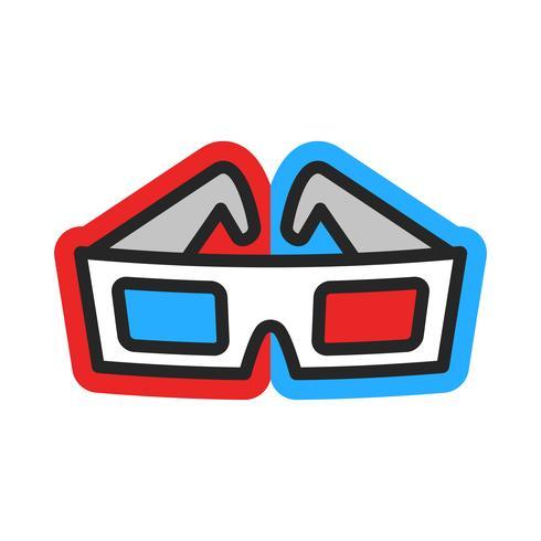 Lunettes de cinéma 3D vecteur