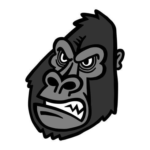 Visage de singe gorille vecteur