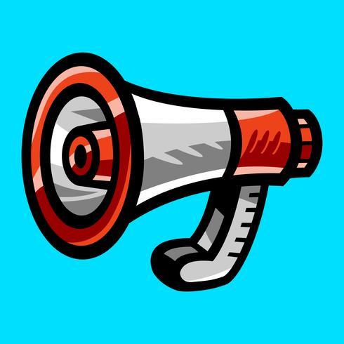 Alerte d'annonce de porte-voix de mégaphone vecteur