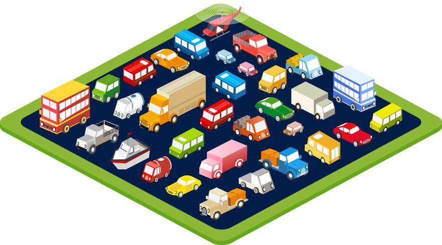 wagons plats isométriques vecteur