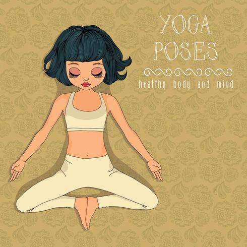 pose de yoga vecteur