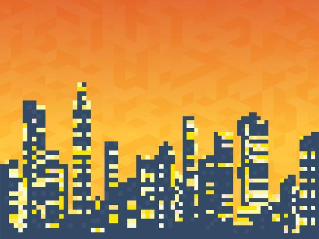 Paysage urbain de gratte-ciel vecteur