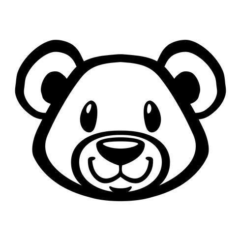 Ours en peluche mignon vecteur