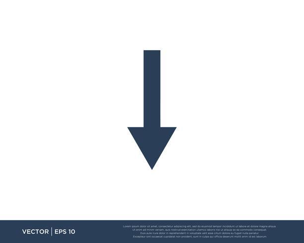 Symbole de modèle de vecteur icône flèche