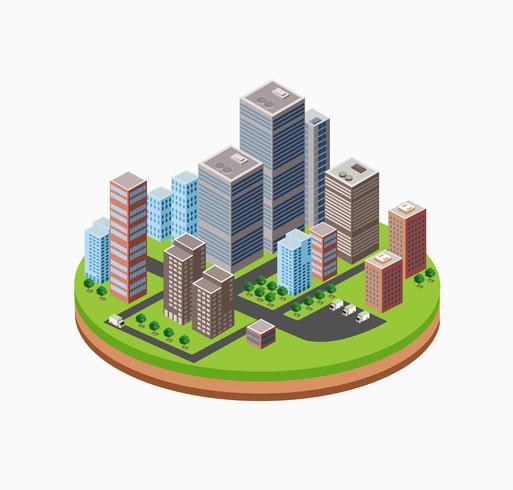 Gratte-ciel urbain vecteur