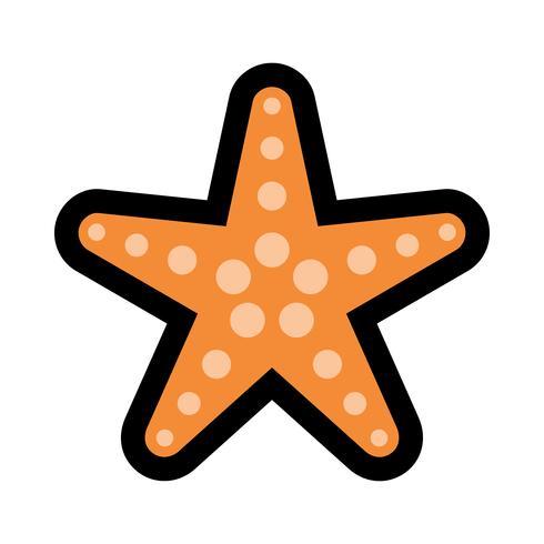 Icône de vecteur de créature mer étoile de mer