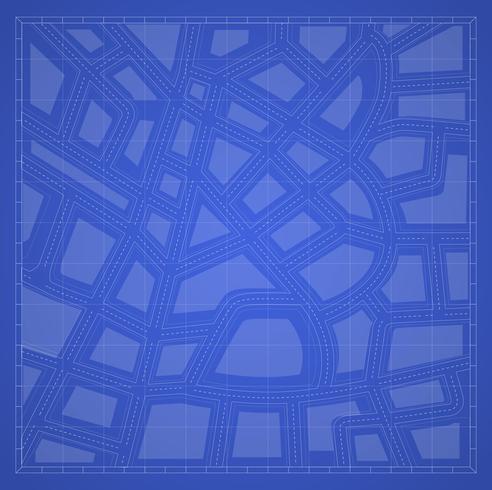 plan d'impression bleue vecteur