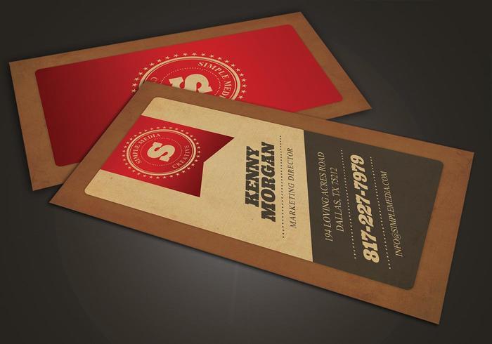 Pack de modèles vectoriels à carte rouge Diagonal Business Card vecteur