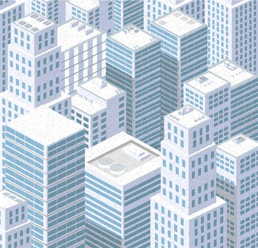 Ville isométrique d'urbain vecteur