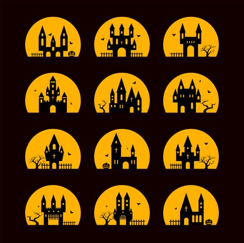 Silhouettes d'halloween vecteur