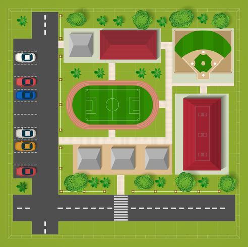 stade de football vecteur