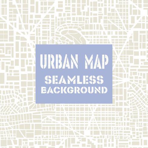 Plan de ville de carte sans soudure vecteur