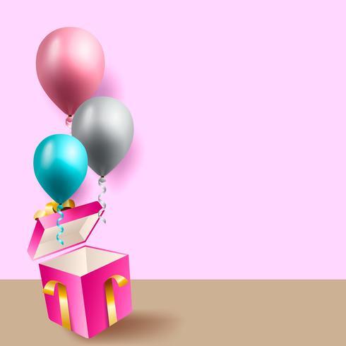 fond de célébration d'anniversaire, fond d'écran ballon vecteur