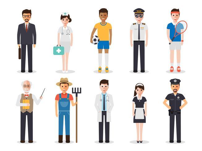 Profession profession people. vecteur