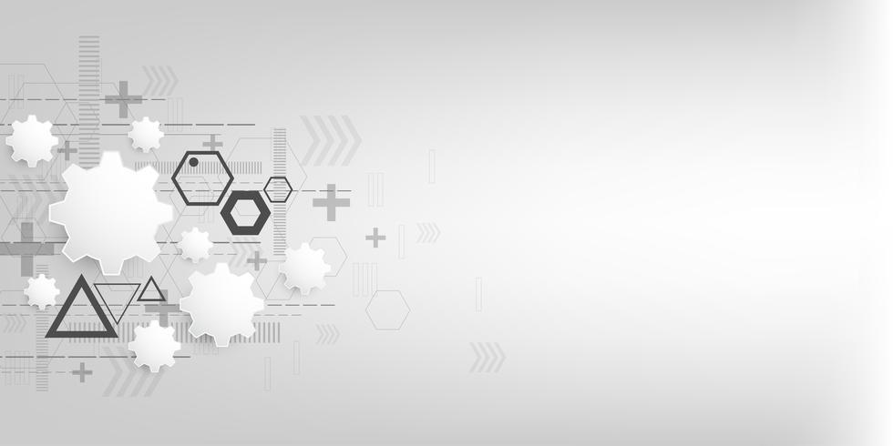 Fond de vecteur dans le concept de technologie.