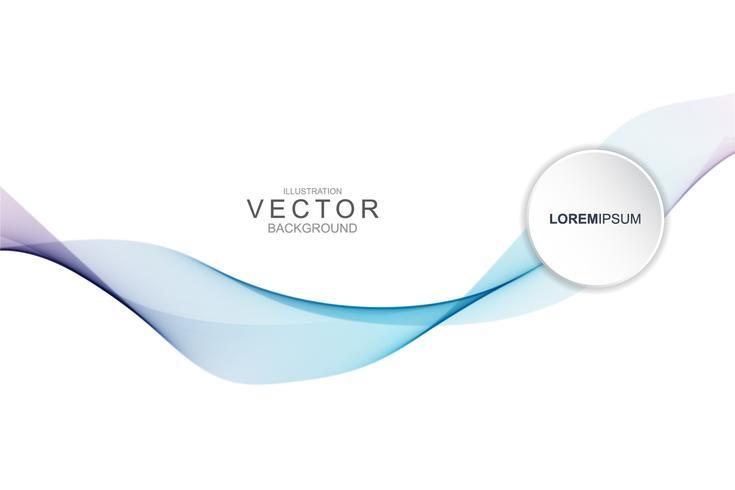 Fumer abstrait avec la forme de la courbe. vecteur