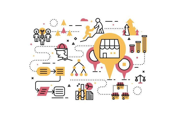 Illustration d'entreprise de franchise vecteur