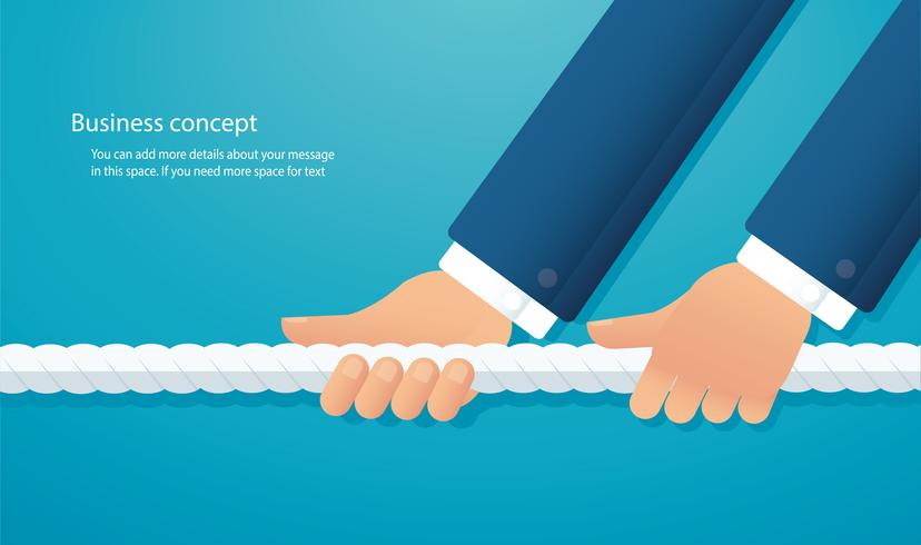 hommes d'affaires tirez le concept commercial de corde. fond de tir à la corde vecteur