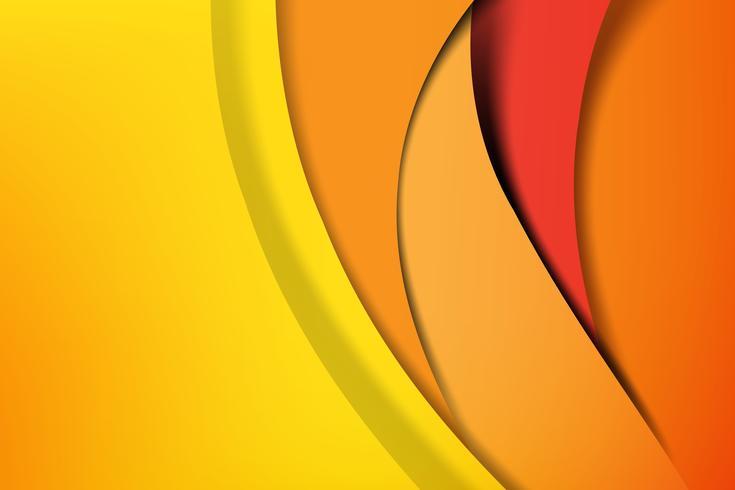 Couche sombre et noire de fond abstrait orange et jaune chevauchant 002 vecteur